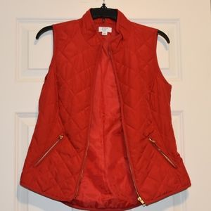 Crown & Ivy Red Vest
